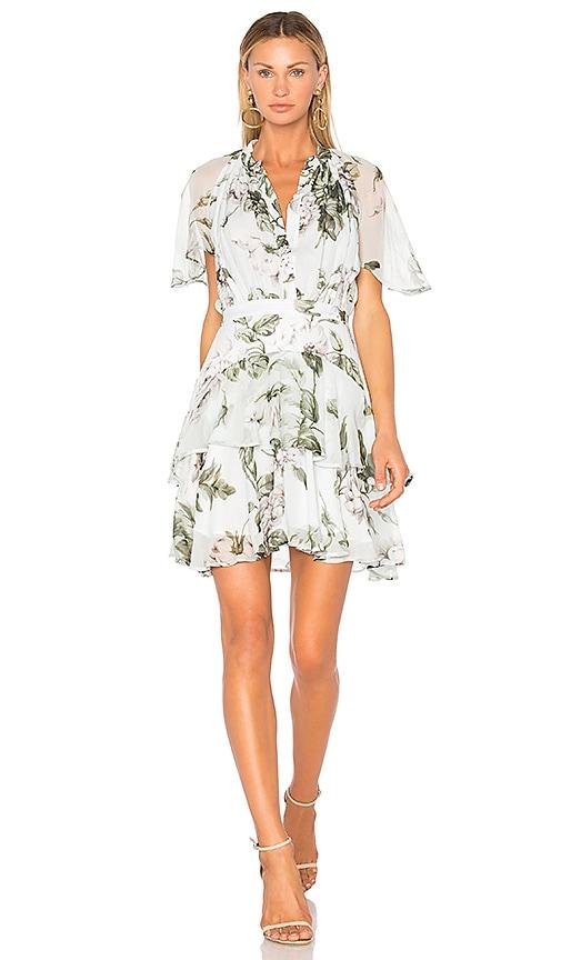 Lover Watercolor Flutter Mini Dress in Mint
