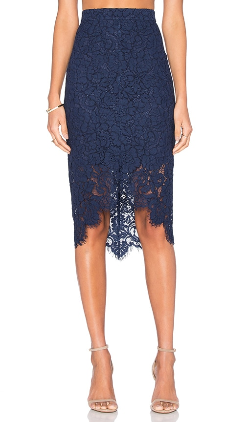 Lover Oasis Pencil Skirt in Navy