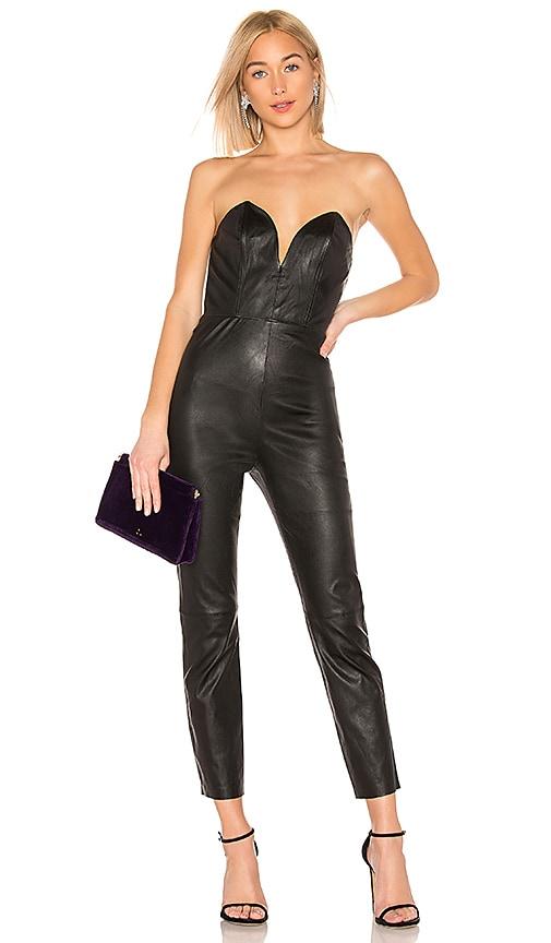 Uma Leather Jumpsuit