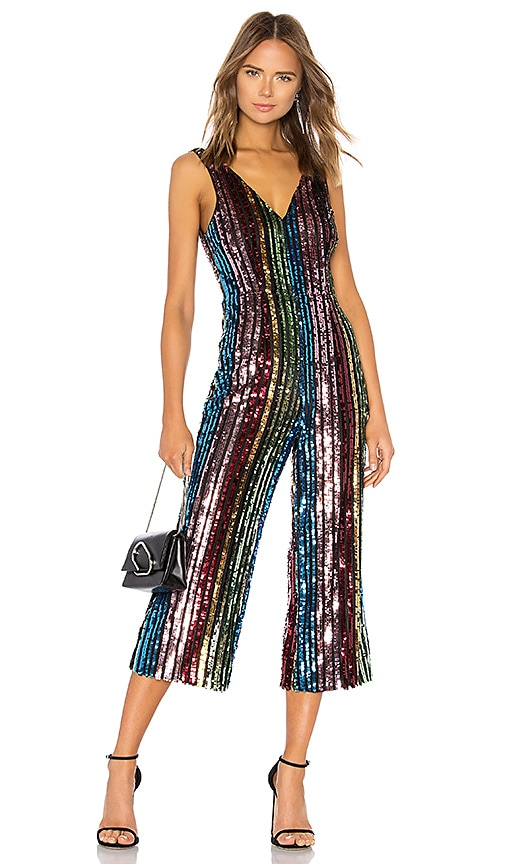 c29c8ff47 LPA Double V Jumpsuit in Multi Sequin | REVOLVE