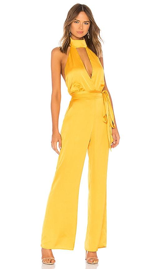 7f7b042dbbb LPA Halter Jumpsuit in Mustard Yellow
