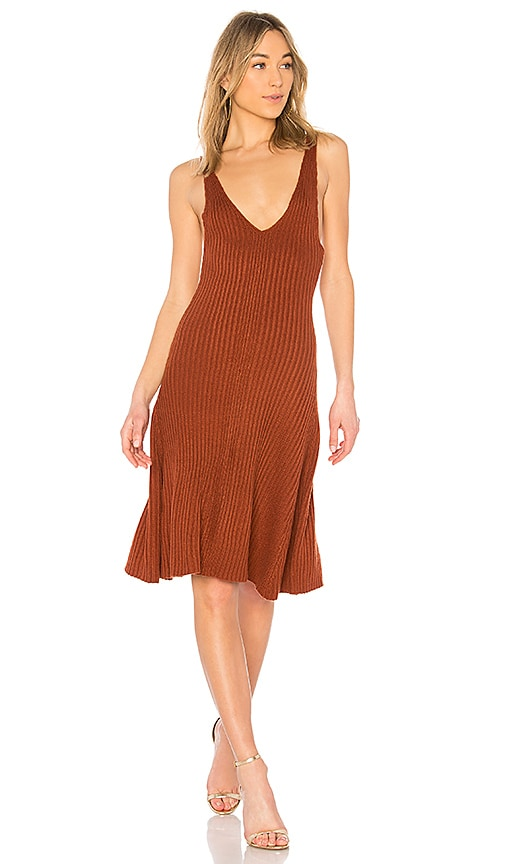 LPA Dress 712 in Burnt Orange