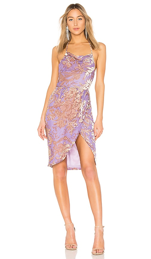 LPA Halter Wrap Dress in Purple