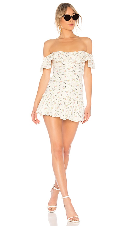 a15afae0af7a LPA Button Up Ruffle Fit   Flare in Send Nudes Floral