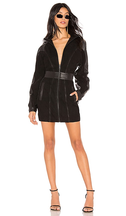 fc3580bea3 LPA Dolman Zip Up Dress in Black