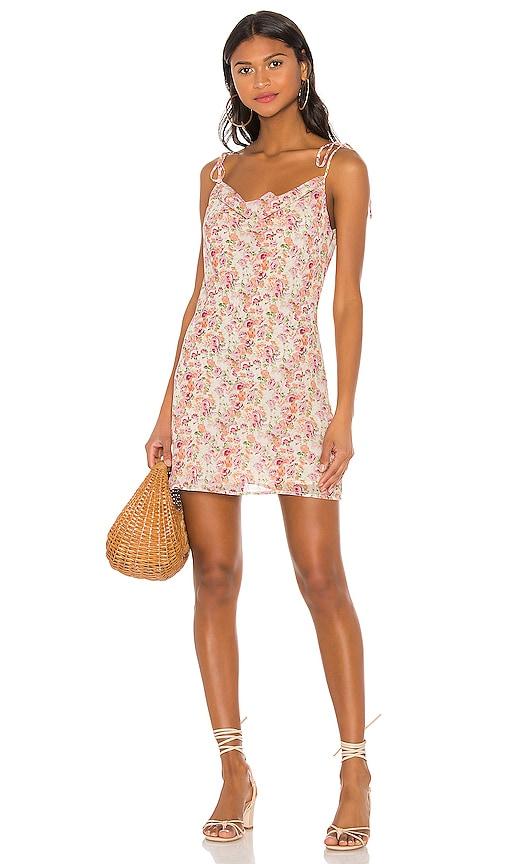 Cowl Mini Slip Dress