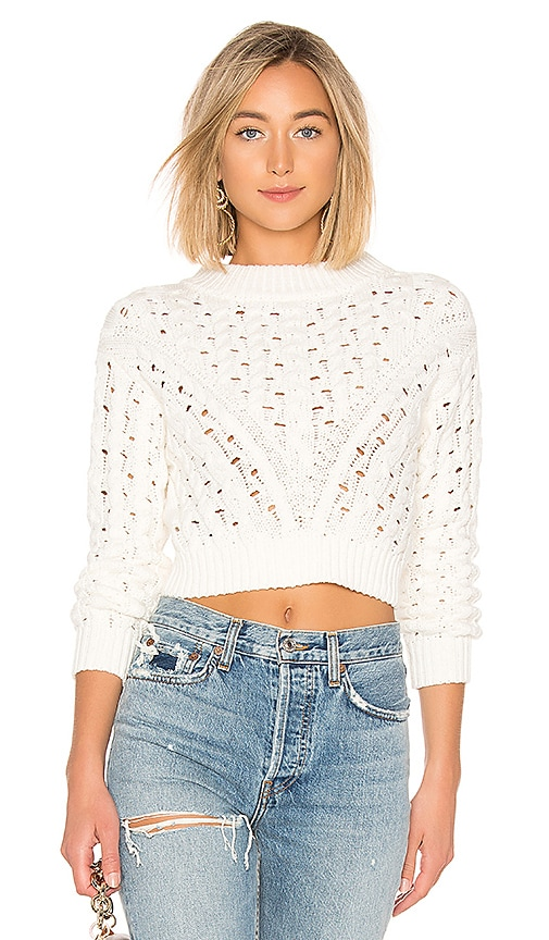 c31f1c90c82 LPA Cropped Cable Sweater in Ivory