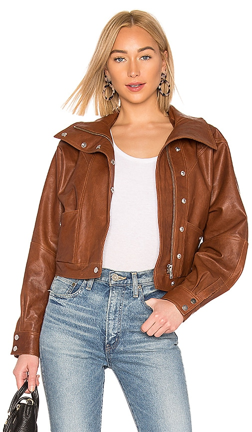 Oversized Leather Jacket