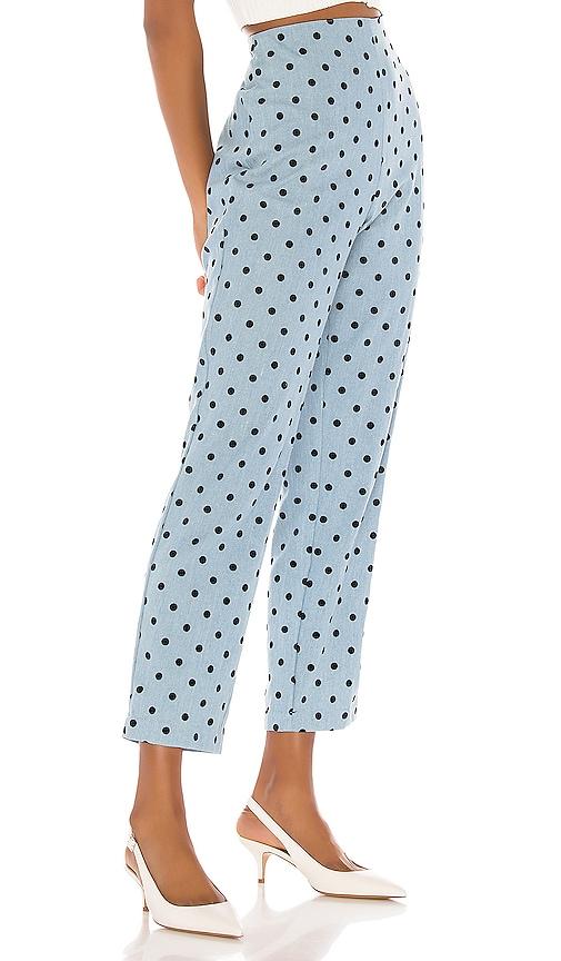 LPA Lauren Pants in Blue Chambray Dot