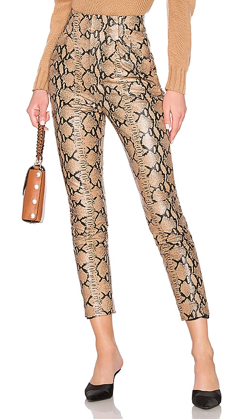 Leather High Waist Pant