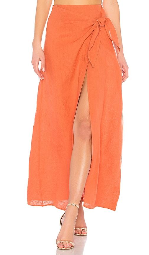 LPA Skirt 529 in Burnt Orange