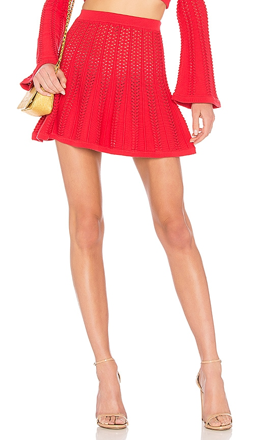 LPA Skirt 243 in Red