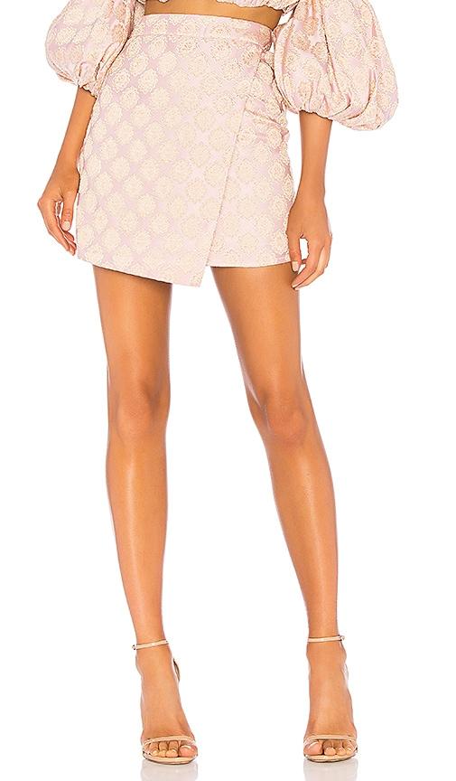 LPA Asymmetrical Mini Skirt in Pink