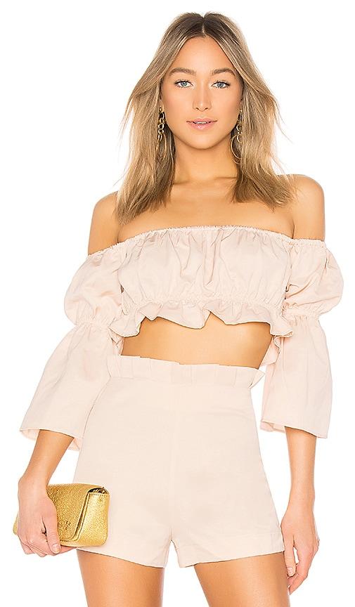 Off Shoulder Shirred Top