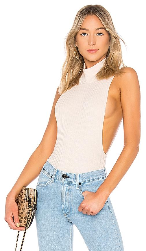 LPA Side Open Rib Bodysuit in Cream