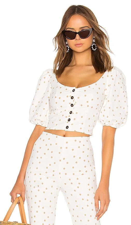 Polka Dot Button Up Top