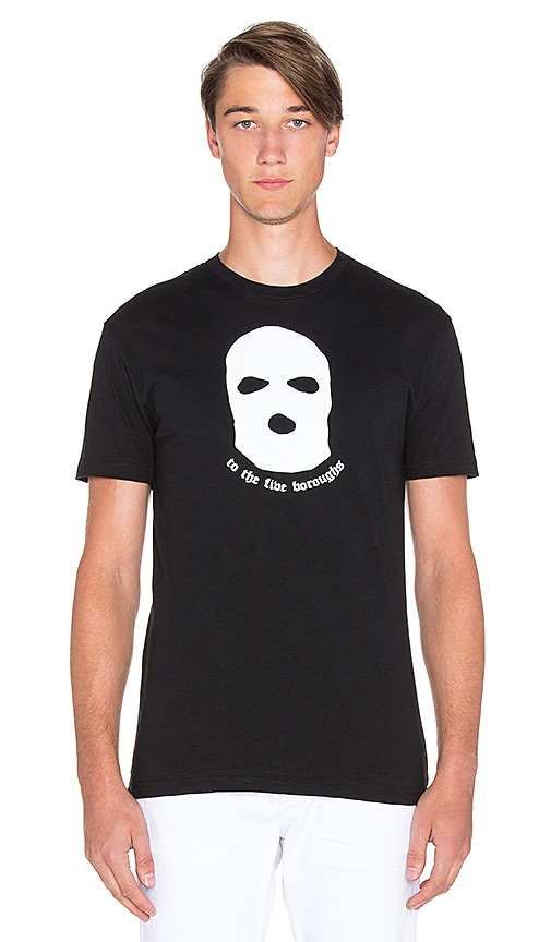 LPD New York Boroughs Mask Tee in Black