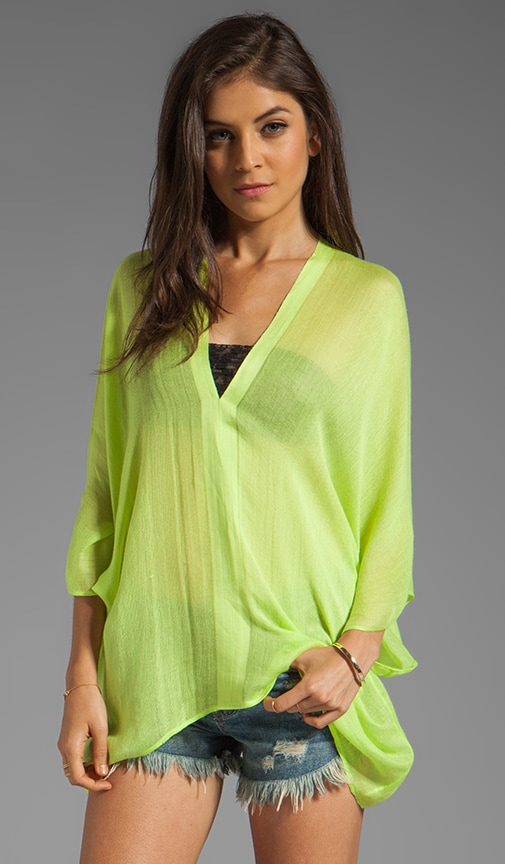 Shiva V-Neck Linen Top