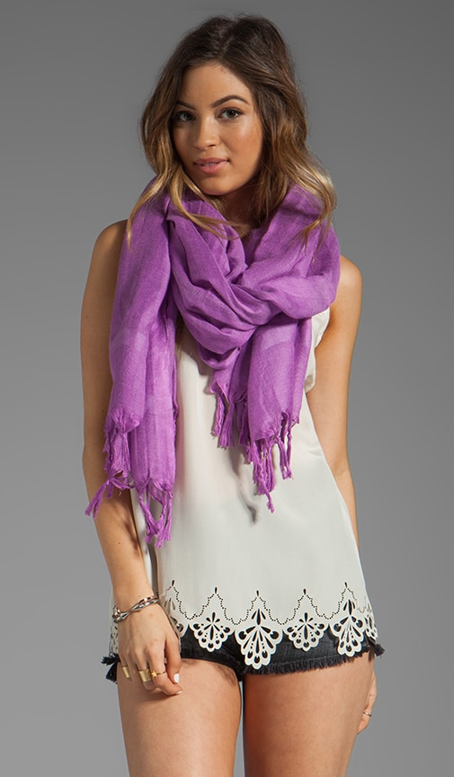 Knotted Tassel Scarf