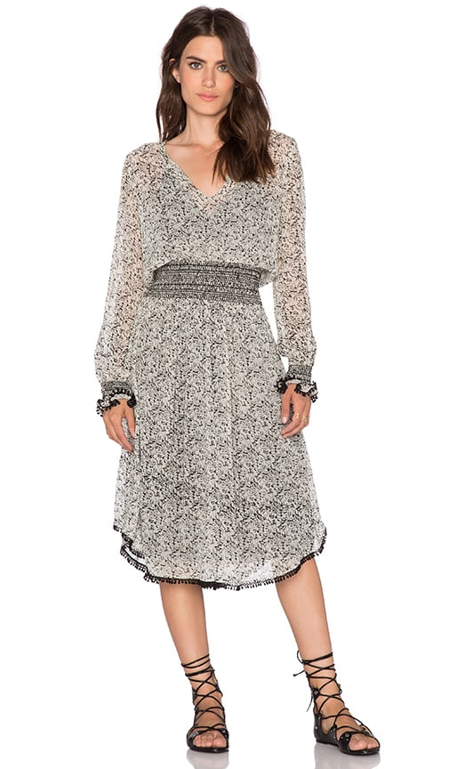 Love Sam Provence Floral Dress in Black & Cream