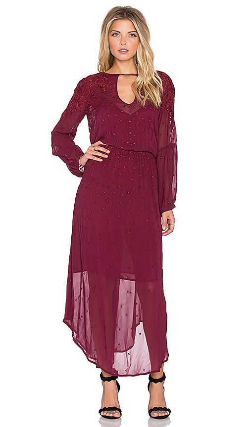 Love Sam Emma Maxi Dress in Beet & Beet