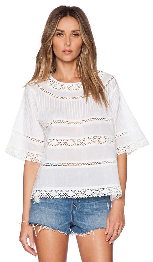 Vivian Swing Top with Lace