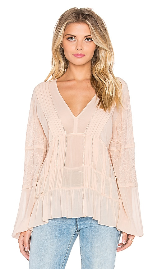 Love Sam Hailey Blouse in Nude