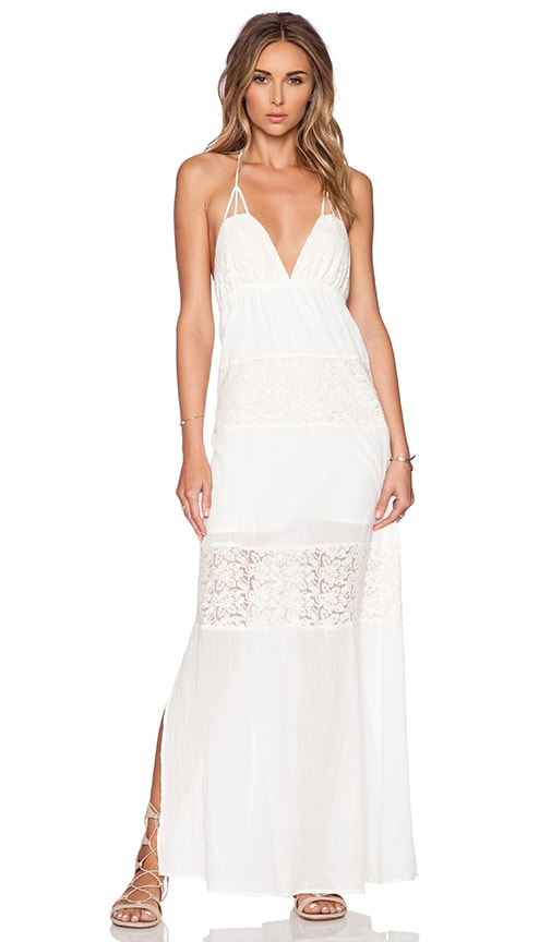L*SPACE Goldie Maxi Dress in Ivory