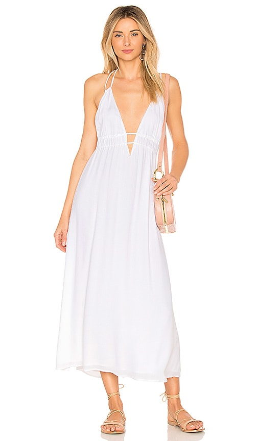 L*SPACE Beachside Beauty Dress in White