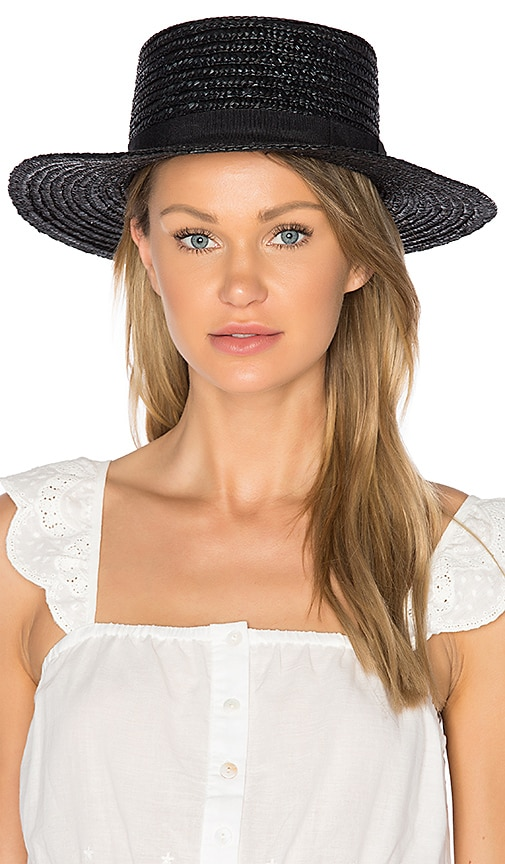 L*SPACE J'Adore Hat in Black
