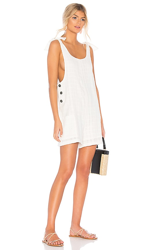L*SPACE Carina Romper in White
