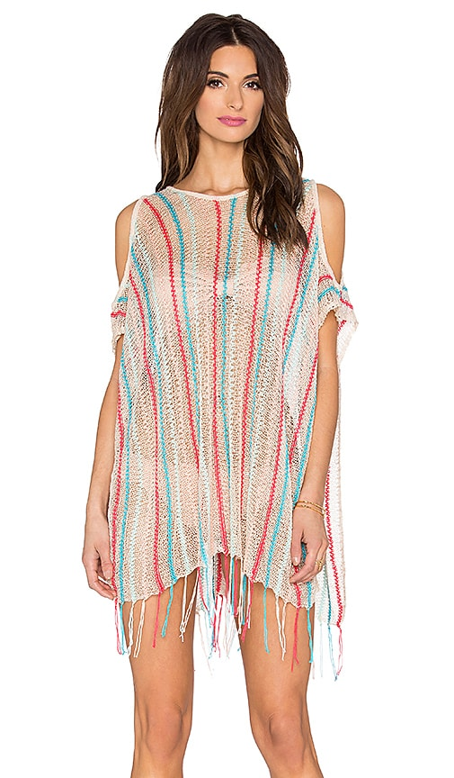 L*SPACE Nightfall Beach Poncho in Cream