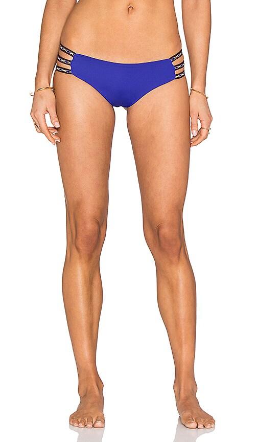 L*SPACE Misty Bikini Bottom in Blue