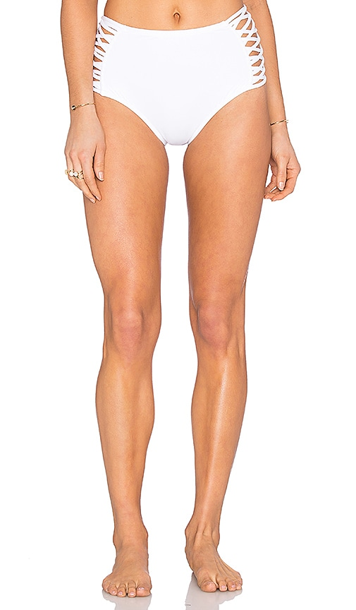 L*SPACE Tigress Bikini Bottom in White