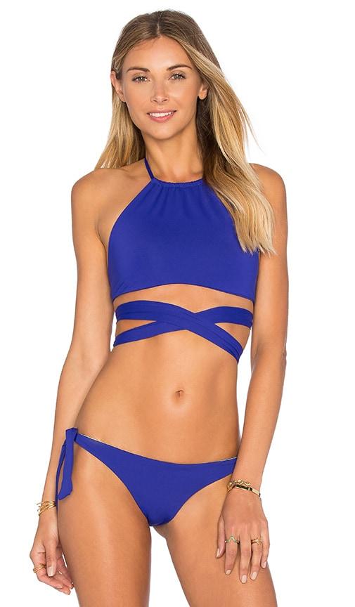 L*SPACE x REVOLVE x Jamie Chung Lizzie Wrap Bikini Top in Blue