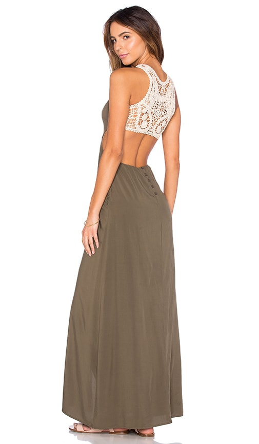 L*SPACE Daybreak Maxi Dress in Olive