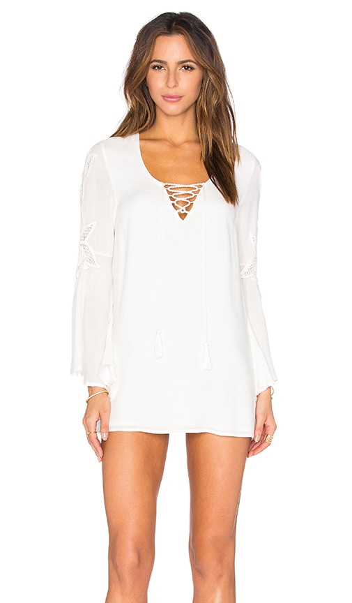 L*SPACE Island Gypsy Mini Dress in Ivory