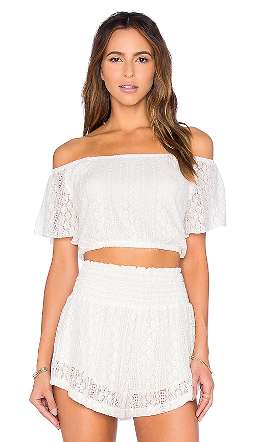 L*SPACE Summer Of Love Crop Top in White