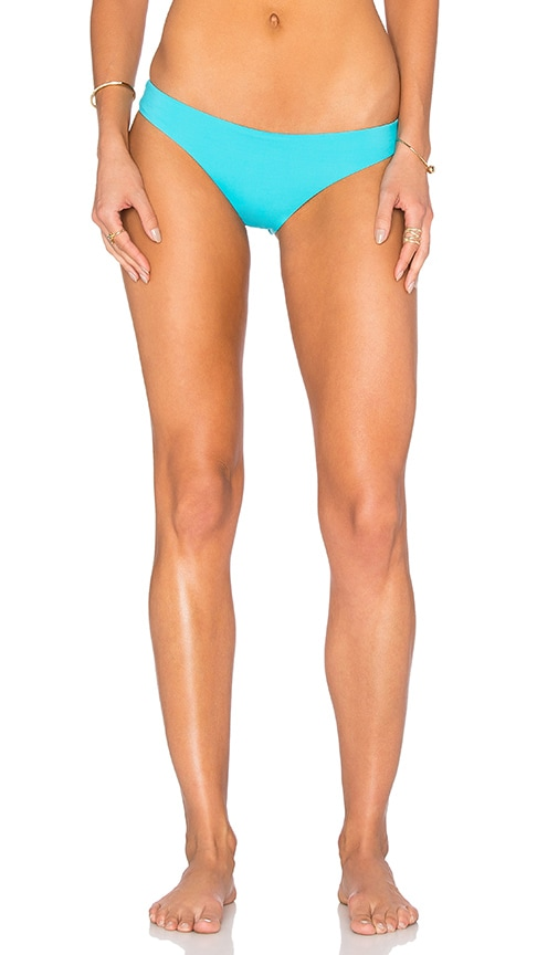 L*SPACE Emma Reversible Bikini Bottom in Turquoise