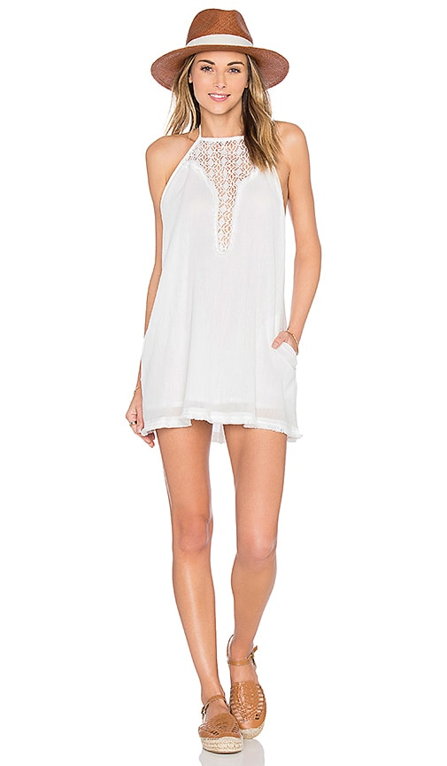 L*SPACE Kokomo Halter Dress in White