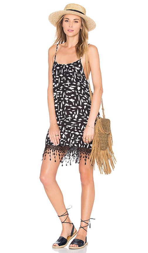 L*SPACE Malibu Keep It Wild Dress in Black & White