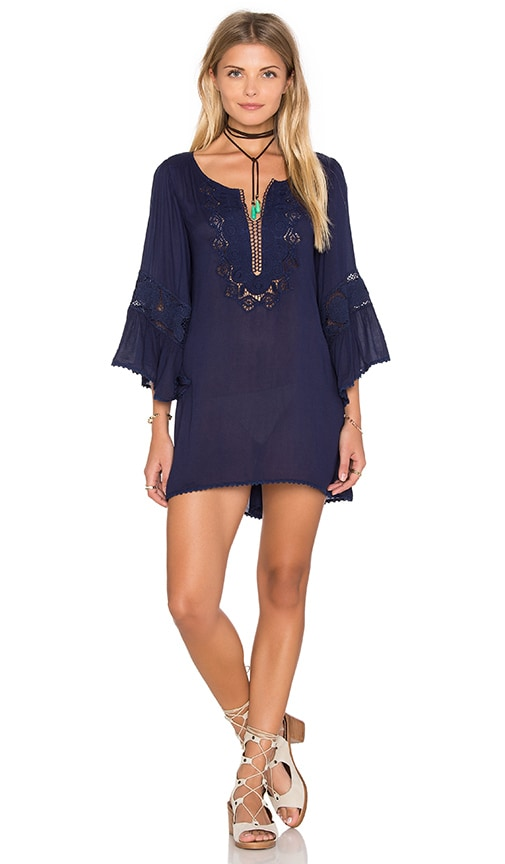 L*SPACE Breakaway Cover Up Dress in Navy