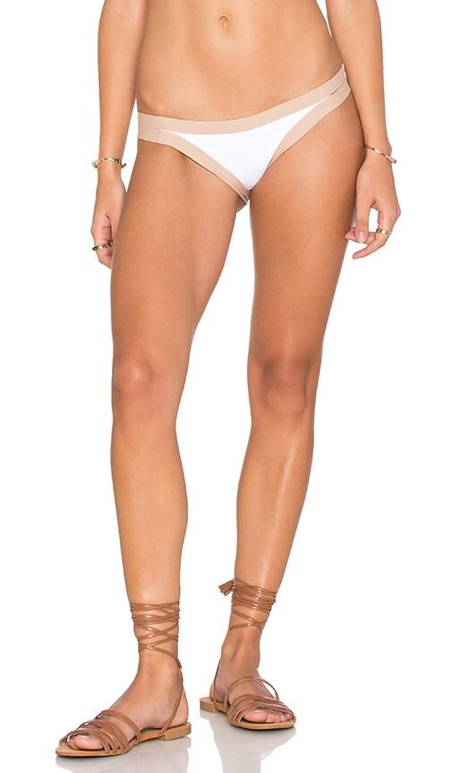 L*SPACE Charlie Bikini Bottom in White