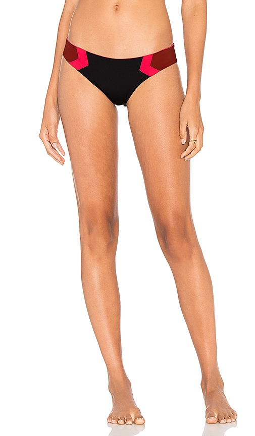 L*SPACE Barracuda Reversible Bikini Bottom in Black