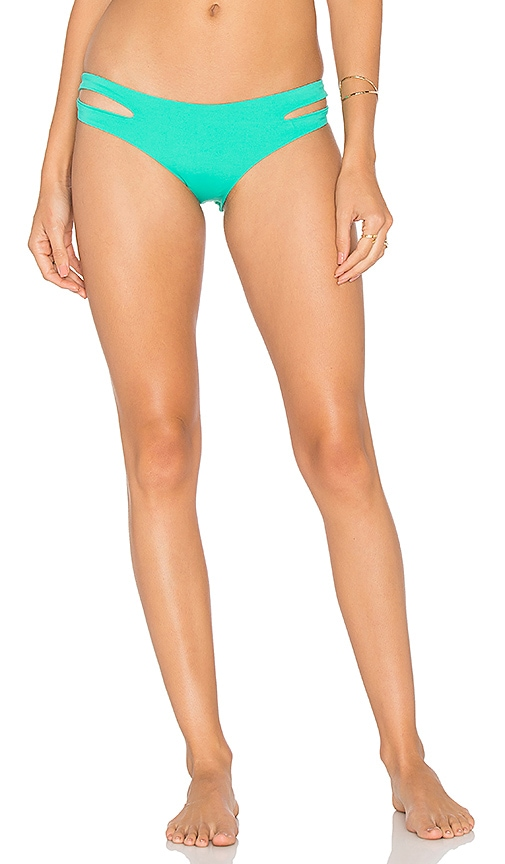 L*SPACE Estella Classic Bikini Bottom in Green