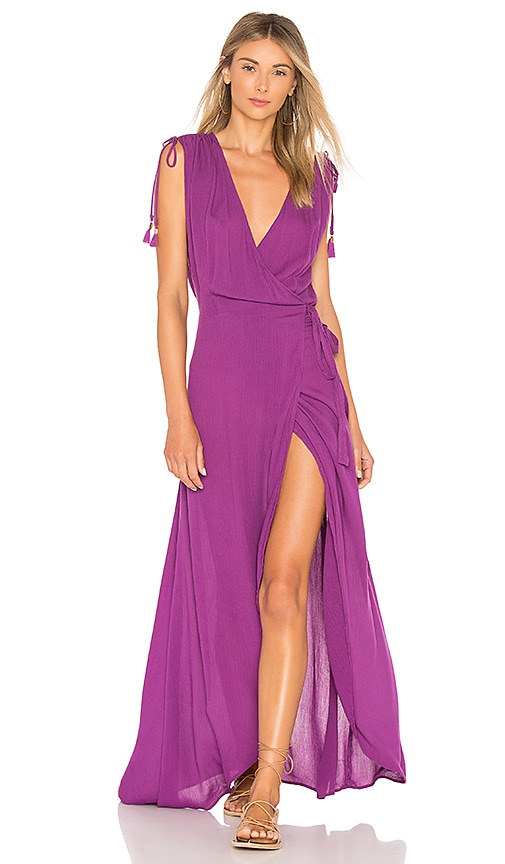 L*SPACE Wrapper Dress in Purple