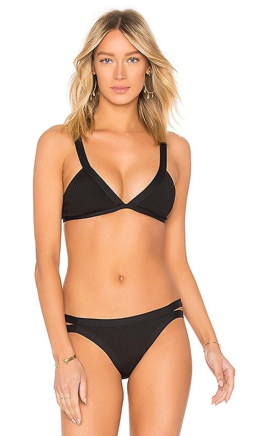 L*SPACE Farrah Bikini Top in Black
