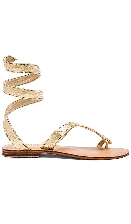 L*SPACE Snake Wrap Sandal in Gold