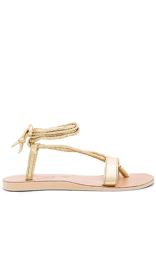 L*SPACE by Cocobelle Rio Sandals in Metallic Gold
