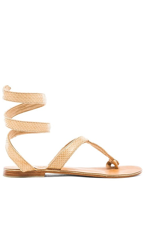 L*SPACE by Cocobelle Snake Wrap Sandal in Tan
